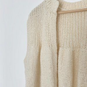 Vintage Sweaters - Chunky Open Knit Cocoon Pullover